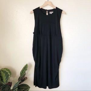 Loft | Ruched Midi Dress